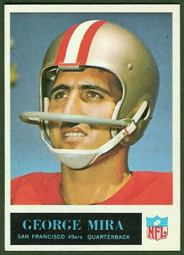 George Mira 1965 Philadelphia football card