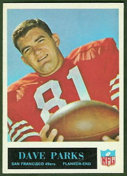 Dave Parks 1965 Philadelphia football card