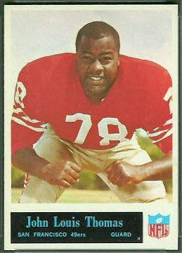 John Thomas 1965 Philadelphia football card