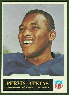 Pervis Atkins 1965 Philadelphia football card