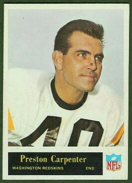 Preston Carpenter 1965 Philadelphia football card