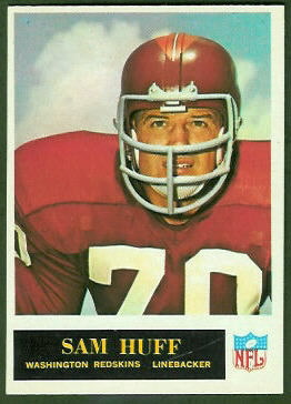 Sam Huff 1965 Philadelphia football card