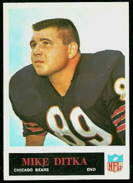 Mike Ditka 1965 Philadelphia football card