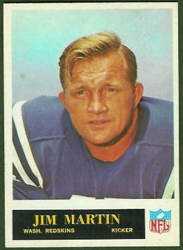 Jim Martin 1965 Philadelphia football card