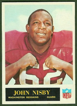 John Nisby 1965 Philadelphia football card
