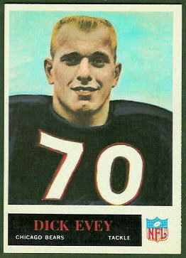 Dick Evey 1965 Philadelphia football card