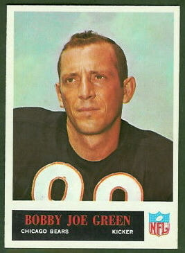 Bobby Joe Green 1965 Philadelphia football card