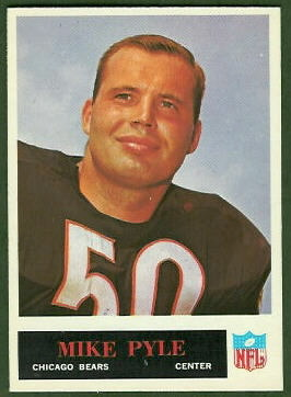 Mike Pyle 1965 Philadelphia football card