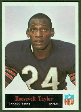 Roosevelt Taylor 1965 Philadelphia football card
