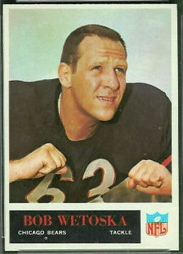 Bob Wetoska 1965 Philadelphia football card