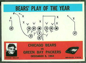 Bears Play of the Year 1965 Philadelphia football card