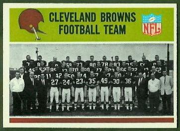 Cleveland Browns Team 1965 Philadelphia football card