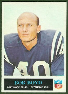 Bob Boyd 1965 Philadelphia football card