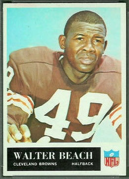 Walter Beach 1965 Philadelphia football card