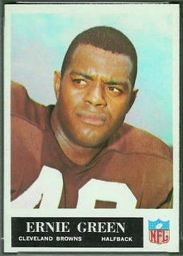 Ernie Green 1965 Philadelphia football card