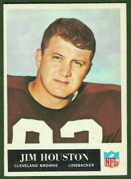 Jim Houston 1965 Philadelphia football card