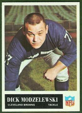 Dick Modzelewski 1965 Philadelphia football card