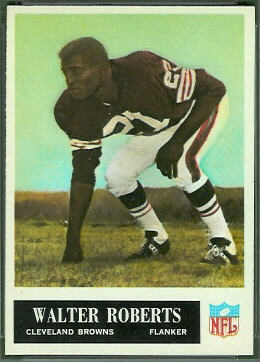 Walter Roberts 1965 Philadelphia football card