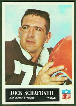Dick Schafrath 1965 Philadelphia football card