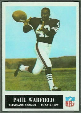 Paul Warfield 1965 Philadelphia football card