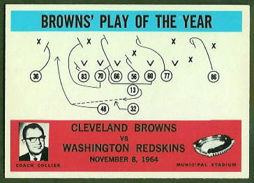Browns Play of the Year 1965 Philadelphia football card