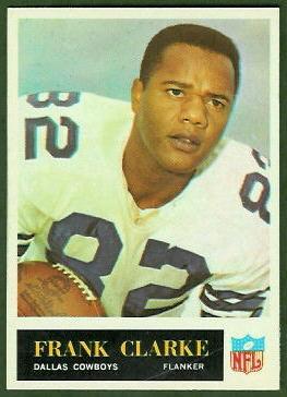 Frank Clarke 1965 Philadelphia football card