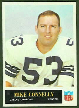 Mike Connelly 1965 Philadelphia football card