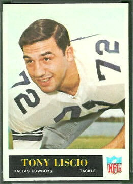 Tony Liscio 1965 Philadelphia football card