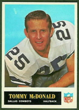 Tommy McDonald 1965 Philadelphia football card