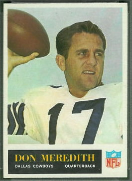 Don Meredith 1965 Philadelphia football card