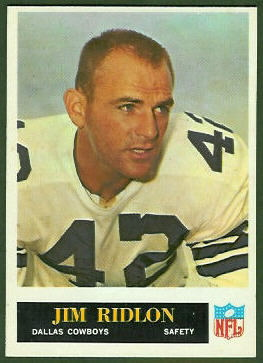 Jim Ridlon 1965 Philadelphia football card