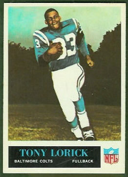 Tony Lorick 1965 Philadelphia football card