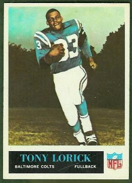 Tony Lorick 1965 Philadelphia football card