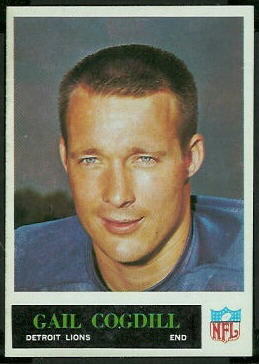 Gail Cogdill 1965 Philadelphia football card