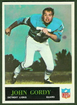 John Gordy 1965 Philadelphia football card