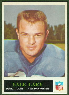 Yale Lary 1965 Philadelphia football card