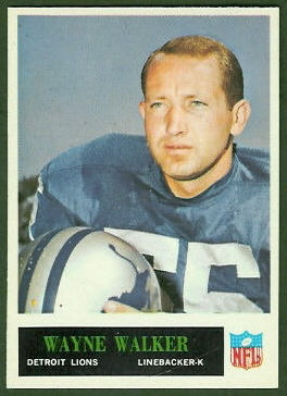 Wayne Walker 1965 Philadelphia football card