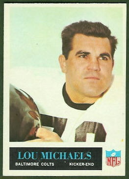 Lou Michaels 1965 Philadelphia football card