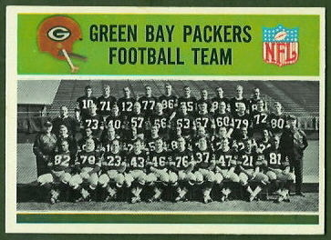 Green Bay Packers Team 1965 Philadelphia football card