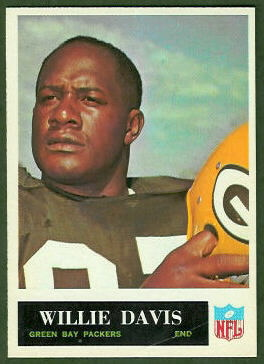 Willie Davis 1965 Philadelphia football card