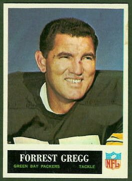 Forrest Gregg 1965 Philadelphia football card