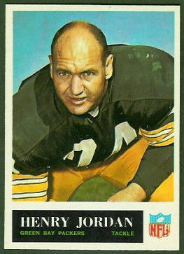 Henry Jordan 1965 Philadelphia football card