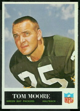 Tom Moore 1965 Philadelphia football card
