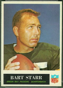Bart Starr 1965 Philadelphia football card