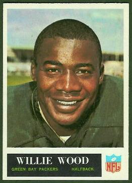 Willie Wood 1965 Philadelphia football card