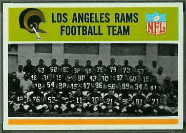 Los Angeles Rams Team 1965 Philadelphia football card