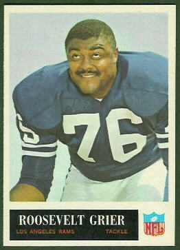 Roosevelt Grier 1965 Philadelphia football card
