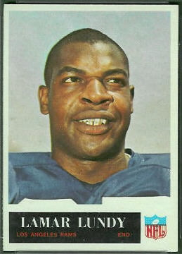 Lamar Lundy 1965 Philadelphia football card