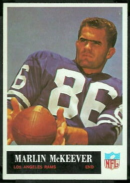 Marlin McKeever 1965 Philadelphia football card