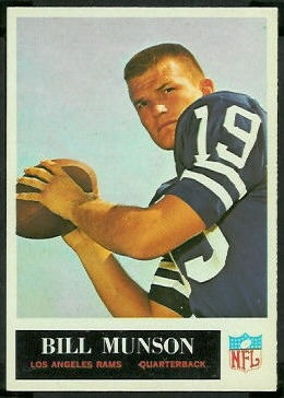 Bill Munson 1965 Philadelphia football card